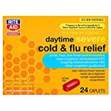 Rite Aid Daytime Severe Cold and Flu Medicine, Maximum Strength - 24 Caplets | Severe Cold Relief | Cough Suppressant | Congestion Relief