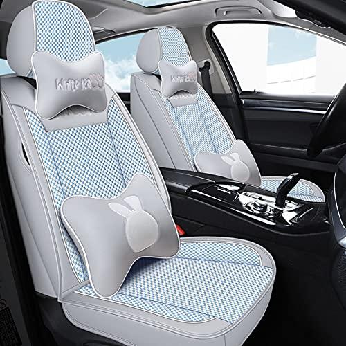 Cubierta de asiento de cuero de cuero universal Conjunto completo con almohadas de 5 asientos de asiento SUV Funda frontal trasera,A