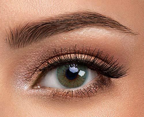 1 Paar grüne Kontaktlinsen von Solotica - Hochwertige Premium Augenfarben ändernde Kontaktlinsen - Tragedauer bis zu 1 Jahr - Der natürlich aussehende Weg der Augenfarbenänderung - Hidrocor Rio Buzios