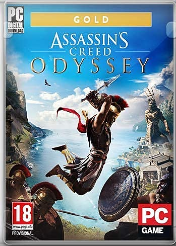 Asassins Creed Odyssey GOLD – Digital Download – [ NO DVD NO CD ] – [No Multiplayer/No Redeem* Code] -Full PC GAME.