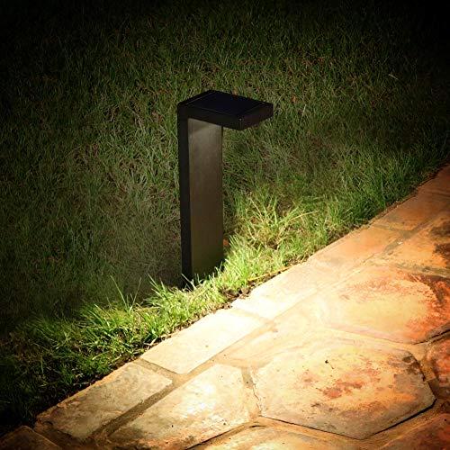 Enchanted Spaces Set of 2 L-Shaped Black Solar Path Light