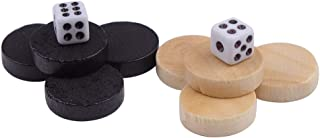 Wood Draught & Backgammon Pieces