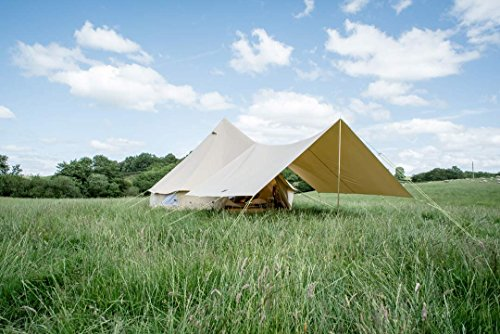 400 x 26cm AWNING ONLY 100% Cotton Canvas Suitable for 3m 4m 5m 6m Bell Tent Available in Sand or Grey
