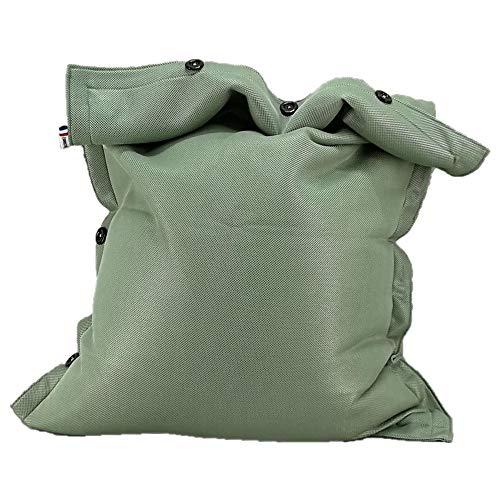 SHELTO - Pouf Shelto – Intérieur / Extérieur / Piscine – Ergonomique - Made In France - 125 X 175 cm – Colori Vert Jade