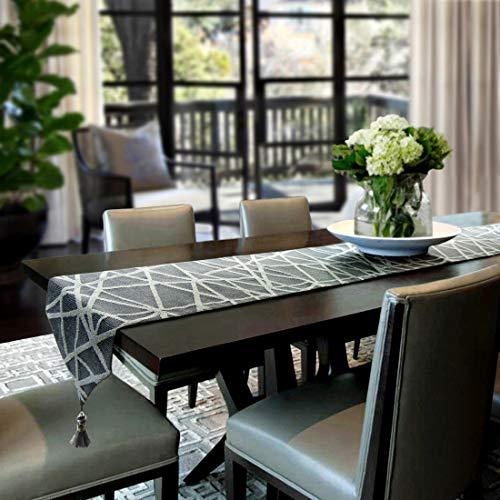 Artbisons Tischläufer Handgemachte Baumwollkünstlerische Spitzendekor-Speisetisch-Tuch-Tischläufer (183x33cm, Geometrie Tischläufer)