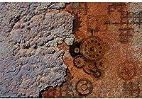 APAN10x7ftビニールヴィンテージレンガの壁の写真の背景さびたチェーンホイールや旧まだらコンクリートの壁の写真のバックドロップキッズボーイズ大人の肖像画壁紙フォトブースメーカーの小道具のチェーン