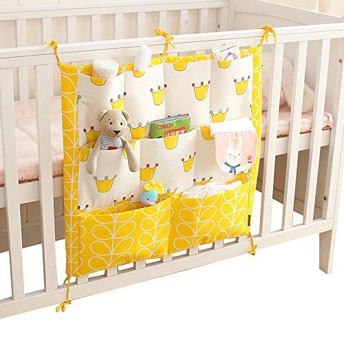 Vine Vide Poches pour Lit Bébé sac de rangement complet coton Infant Lit sac à main Diaper sac à main - B - Taille unique