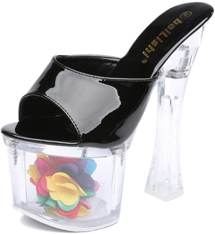 Sandalen Europische Und Amerikanische Damen Lackleder 18 cm Mode Wilden Nachtclub Hochhackige Kristallsandalen