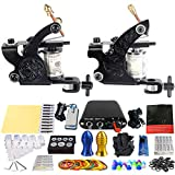 GHHYS Tattoo Starter Kit Professional Complete Tattoo Machine Set 2 Tattoo Machine, Rendimiento Estable, 7-9V Funciona Normalmente, Fácil de Usar para Principiantes y Profesionales