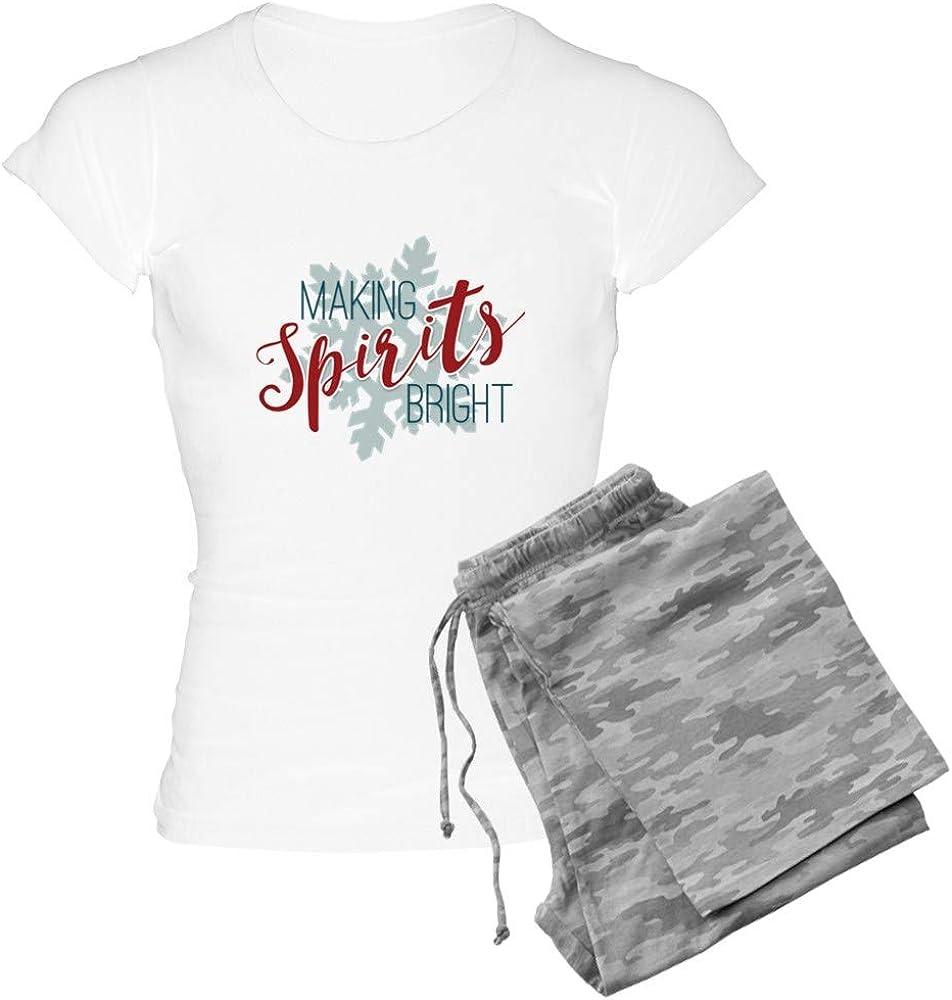 CafePress Making OFFer free Spirits Bright PJs Women's
