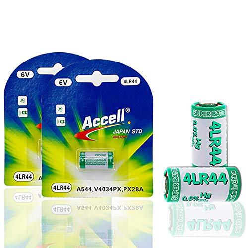 2 Pack 6V 4LR44 A544V 4034PX PX28A L1325 4AG13 544 4A76 Alkaline Dry Battery for Dog Training Shock Collars Beauty Pen