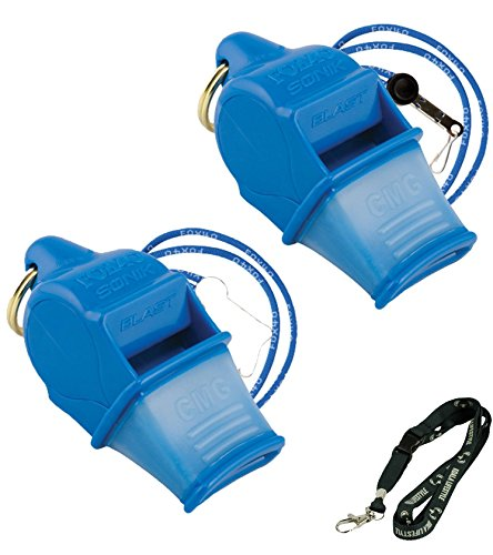 Fox 40 Sonik Blast CMG Loudest Pealess Outdoor, Emergency, Safety, Survival Whistle | 2 pack
