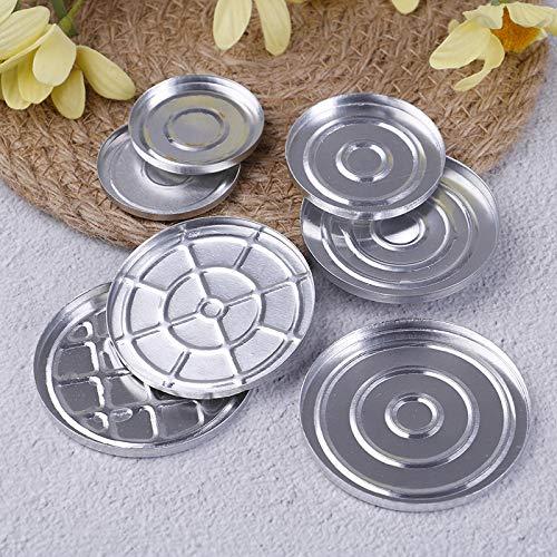 AGBFJY ronde make-up aluminium plaat oogschaduw pigment poeder palet doos lege cosmetica opslag container gereedschap
