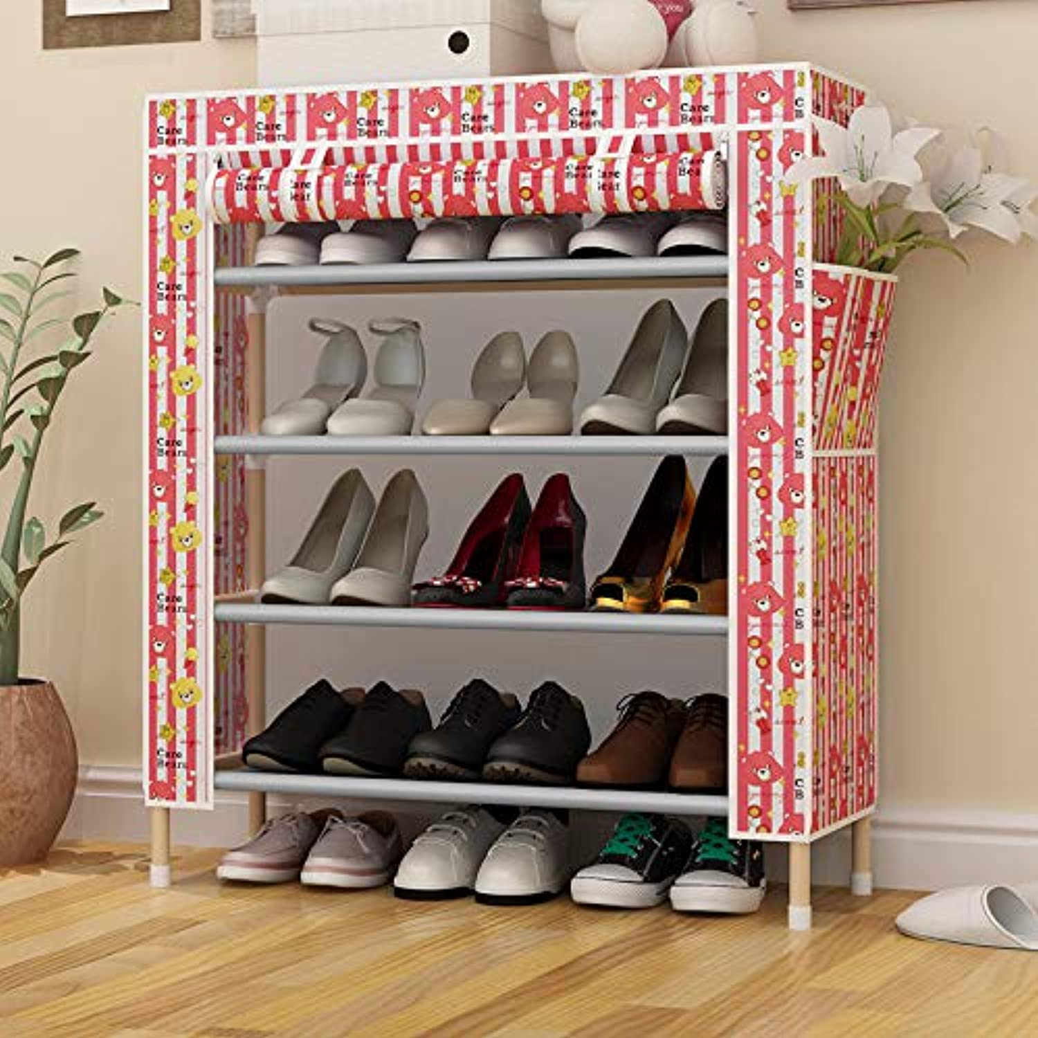 Simple Home, Storage shoes Cabinet, Dustproof Storage Cabinet, colorful Maple Leaf