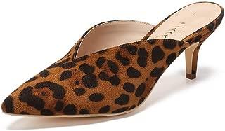 Mackin J G224-1 Women Faux Suede Pointy Heel Kitty Mule