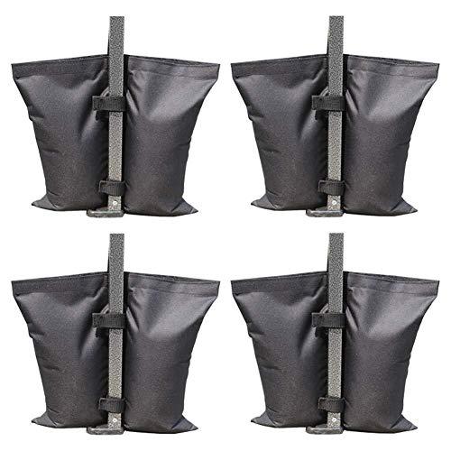 Feste Sandsack, Oxford Stoff Sandsack Anker Kit Pavillon Zelt Bein Gewicht Tasche für Pop-up-Baldachin Zelt Gewicht Füße Tasche(Schwarz, 4er Pack)