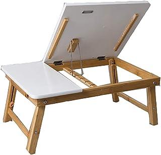 LiuHX Ordenador Portátil Escritorio En El Hogar Estación De Trabajo Juego Dormitorio Sala De Estar Escritorio Cama Plegable Mesa Perezosa,36.5x34x34cm