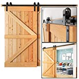 10Ft Single Rail Bypass Sliding Barn Door Hardware (US Based Company) Customer Service by Phone, Higher Quality Spring Loaded Door Stoppers (one of a Kind) American Standard