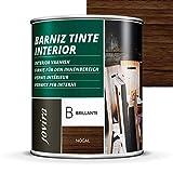 BARNIZ TINTE INTERIOR BRILLANTE, (6 COLORES), Barniz madera, Protege la madera, Decora y embellece...