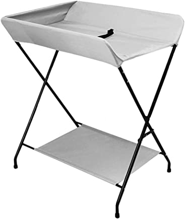 YXNN Foldable Baby Changing Table Baby Diaper Table Unit Station Portable Care Table Multi-Function Supplies Storage Rack For Newborns  Color Gray