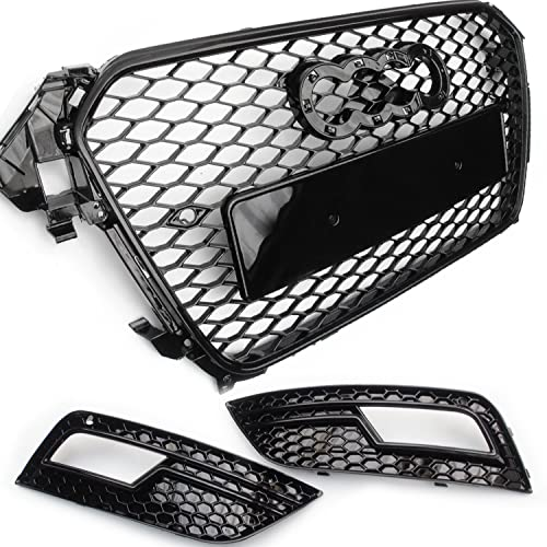 Underground Parts RS4 Style Honeycomb Front Grille & Fog Light Grilles Cubiertas