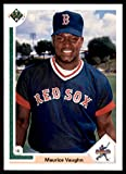 1990 Upper Deck #5 Maurice Mo Vaughn Baseball Card Rookie RC Boston. rookie card picture