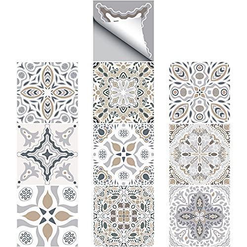 Adhesivo Para Azulejos, Película Autoadhesiva Para Azulejos, Para el Baño y la Cocina de Bricolaje, 10 × 10 cm, 30 Piezas