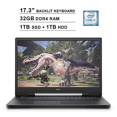 2020 Dell G7 17 17.3 Inch FHD Gaming Laptop (9th Gen Inter 6-Core i7-9750H up to 4.5GHz, 32GB DDR4 RAM, 1TB SSD (Boot) + 1TB HDD, NVIDIA GTX 1660 Ti 6GB, Backlit Keyboard, Bluetooth, Windows 10)