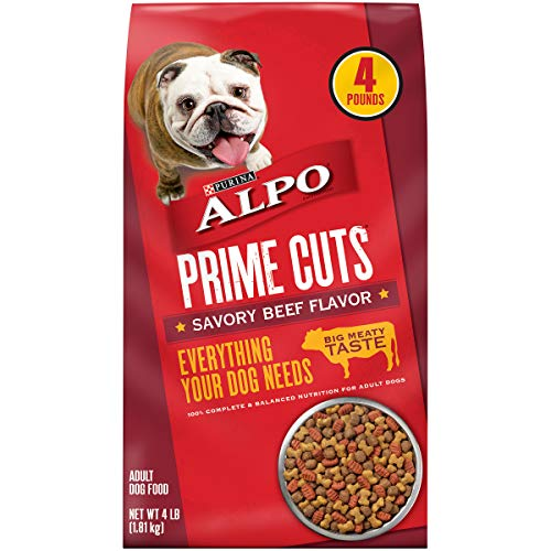 Purina ALPO Dry Dog Food, Prime Cuts Savory Beef Flavor - (4) 4 lb. Bags