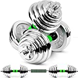 Dumbbells Cast Iron Adjustable Set Hand Weight 2in1 innovative dumbbell set dumbbell & barbell in...