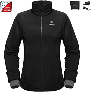 Cordless 7.4v Women's Heated Jacket Winter Outdoor Coat With Battery and Charger (L, 1pcs 4400mAh Battery)