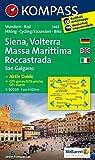 KOMPASS Wanderkarte Siena - Volterra - Massa Marittima - Rocca Strada - San Galgano: Wanderkarte mit Kurzführer und Radrouten. GPS-genau. 1:50000: ... 1:50 000 (KOMPASS-Wanderkarten, Band...