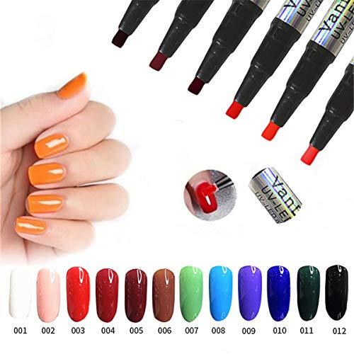 Ein Step Gel-Nagellack-Stift, kein Grundanstrich erforderlich, Saviland 3 in 1 UV-LED-Nagellack-Nagel-Kunst-Kit einweichen