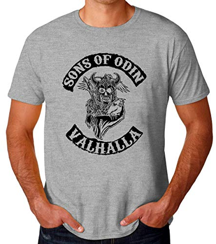 BakoIsland Sons of Odin Valhalla Chapter Camiseta para Hombres XX-Large