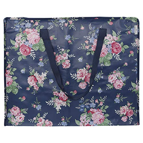 GreenGate Storage Bag Rose Dark Blue Large