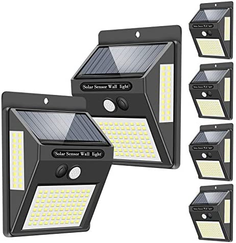 Solar Lights Outdoor 120 LED 3 Optional Modes 270 Lighting Angle Solar Motion Sensor Lights product image