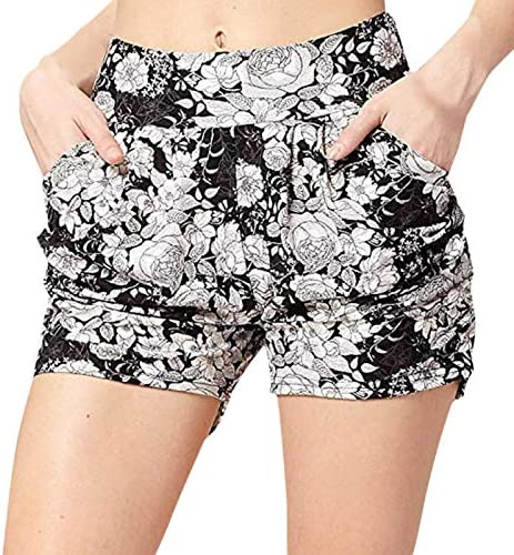 SNOWSONG Women s Sexy Hot Pants High Waist Stretch Casual Beach Hawaiian Shorts Tropical Quick product image