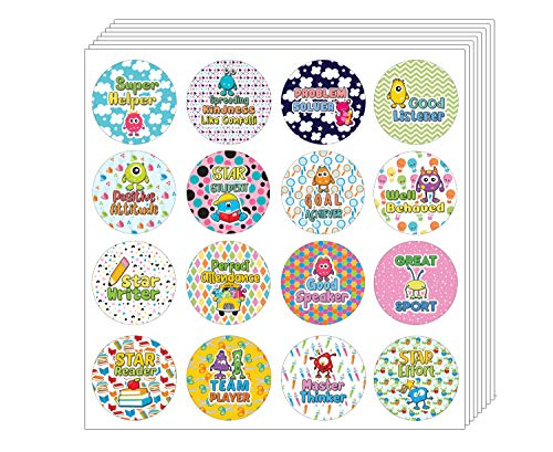 Creanoso Celebrate Learning Stickers (10-Sheet) - Assorted Designs for Children - Classroom Reward Incentives for Students - Stocking Stuffers Party Favors & Giveaways for Teens & Adults