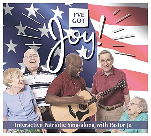 Dementia Friendly Activity CD & DVD - I've Got Joy Interactive Patriotic Sing-Along CD and DVD Combo (Words On Screen)