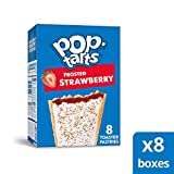 Kellogg's Pop-Tarts Frosted Strawberry Toaster Pastries - Fun Breakfast for Kids, Pack of 8 (8 Count, 64 tarts)