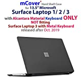 mCover Fundas duras para Microsoft Surface Laptop - Portátil Ultrafino de 13.5' (Surface Laptop - 13.5', Negro)