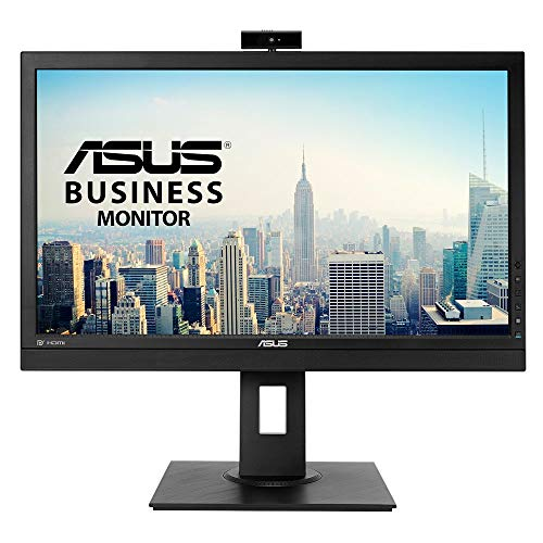 ASUS BE24DQLB 60,45 cm (23,8 Zoll, Full HD) Business Monitor (mit Webcam, VGA, DVI, HDMI, USB 3.0, ergonomisch, DisplayPort) schwarz