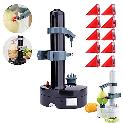 Electric Peeler Rotato Express2.0 + 10 Replacement Blades,Automatic Rotating Fruits & Vegetables Cutter Apple Paring Machine - Kitchen Peeling Tool