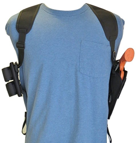 "Federal Shoulder Holster for Ruger GP100, 4"" Barrel with Double Speedloader Pouch"