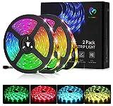 LED Strip Lights, Bellababy 10M(5Mx2) 300LEDs RGB 5050 Color Changing with 44-Keys IR