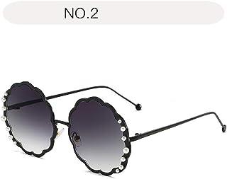 サングラス ファッション 女性用サングラスフラワー型ドライビングメガネメガネパール装飾された安全メガネUV 400サングラス (色 : NO.2, サイズ : Free size)