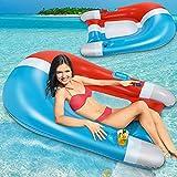 Flyfun Colchoneta Hinchable Piscina Flotadores Piscina Hamaca de Agua Hamaca Flotante Inflable Juguetes Piscina Playa Forma de Imán 90x150cm
