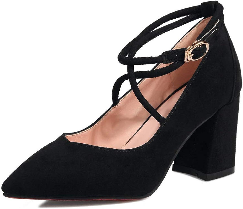 BalaMasa Womens Solid Business Travel Urethane Pumps shoes APL10965