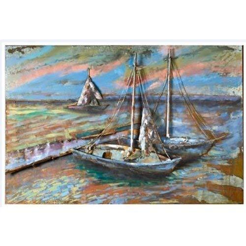 GILDE Gallery Kunstobjekt Metall-Bild 3D Sailing 120x80cm