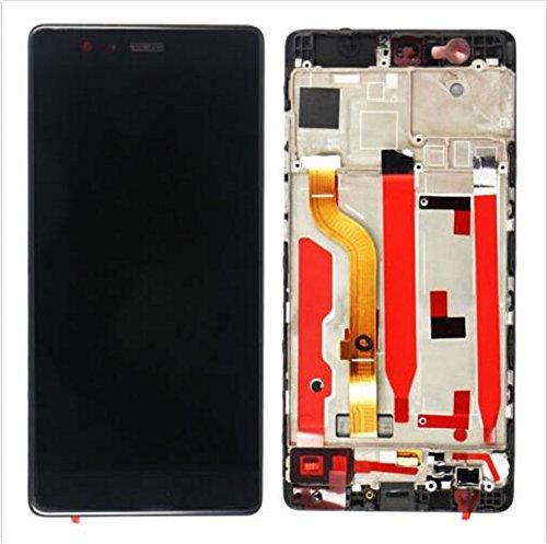 Preisvergleich Produktbild Huawei P9 Standard Display im Komplettset LCD Ersatz Für Touchscreen Glas Reparatur (Schwarz + rahmen)